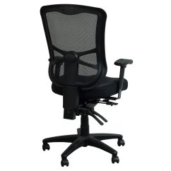 Alera Elusion Chair Black Wooden Rocking Series Used Mesh High Back