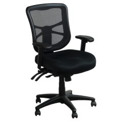 Alera Elusion Chair Set Of 4 Series Used Mesh Mid Back Black