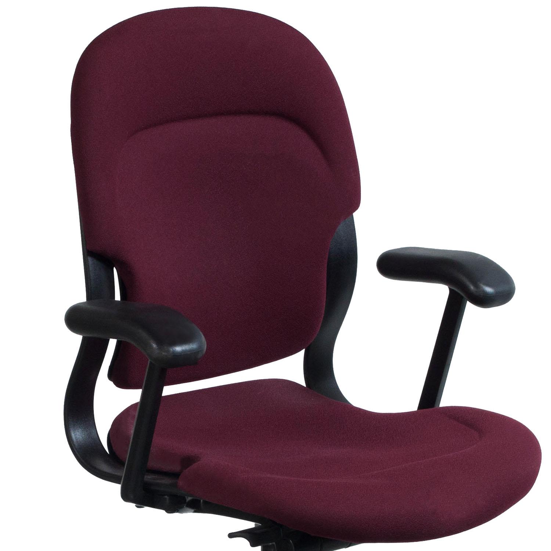 maroon office chairs ergonomic chair living room herman miller equa high back used task