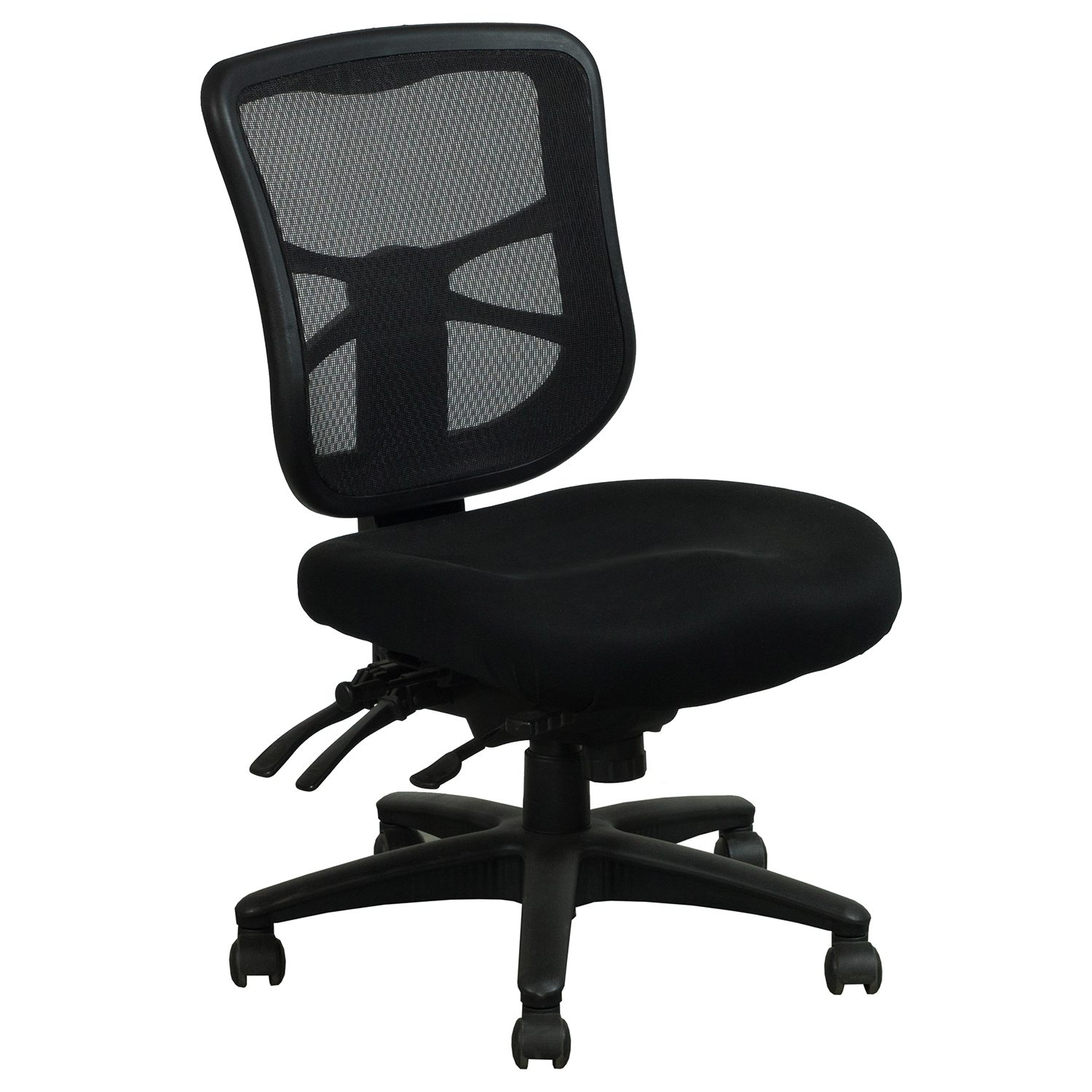 alera elusion chair rifton toilet used armless mesh mid back black national