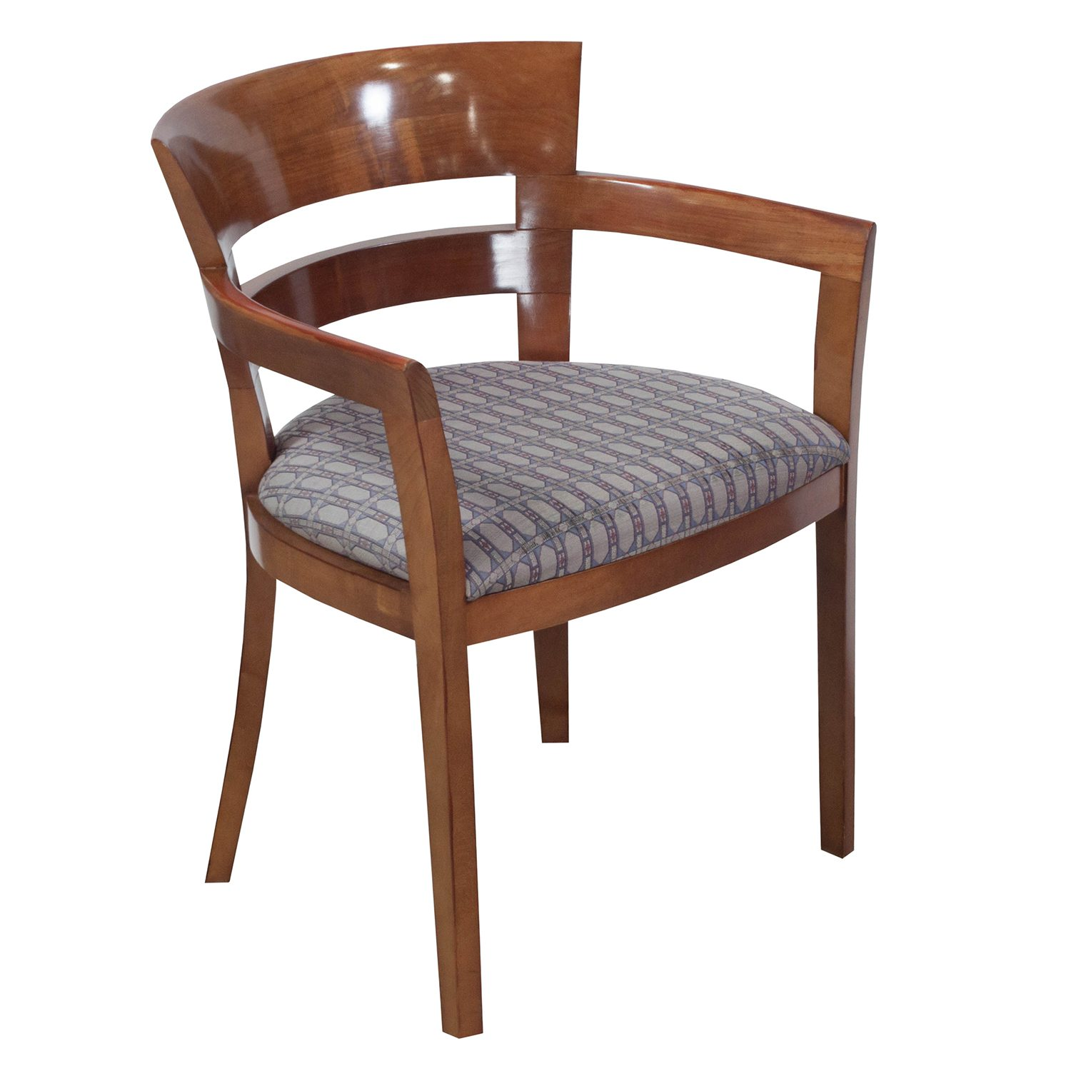 Pattern Chair Bernhardt Used Wood Side Chair Gray Pattern National