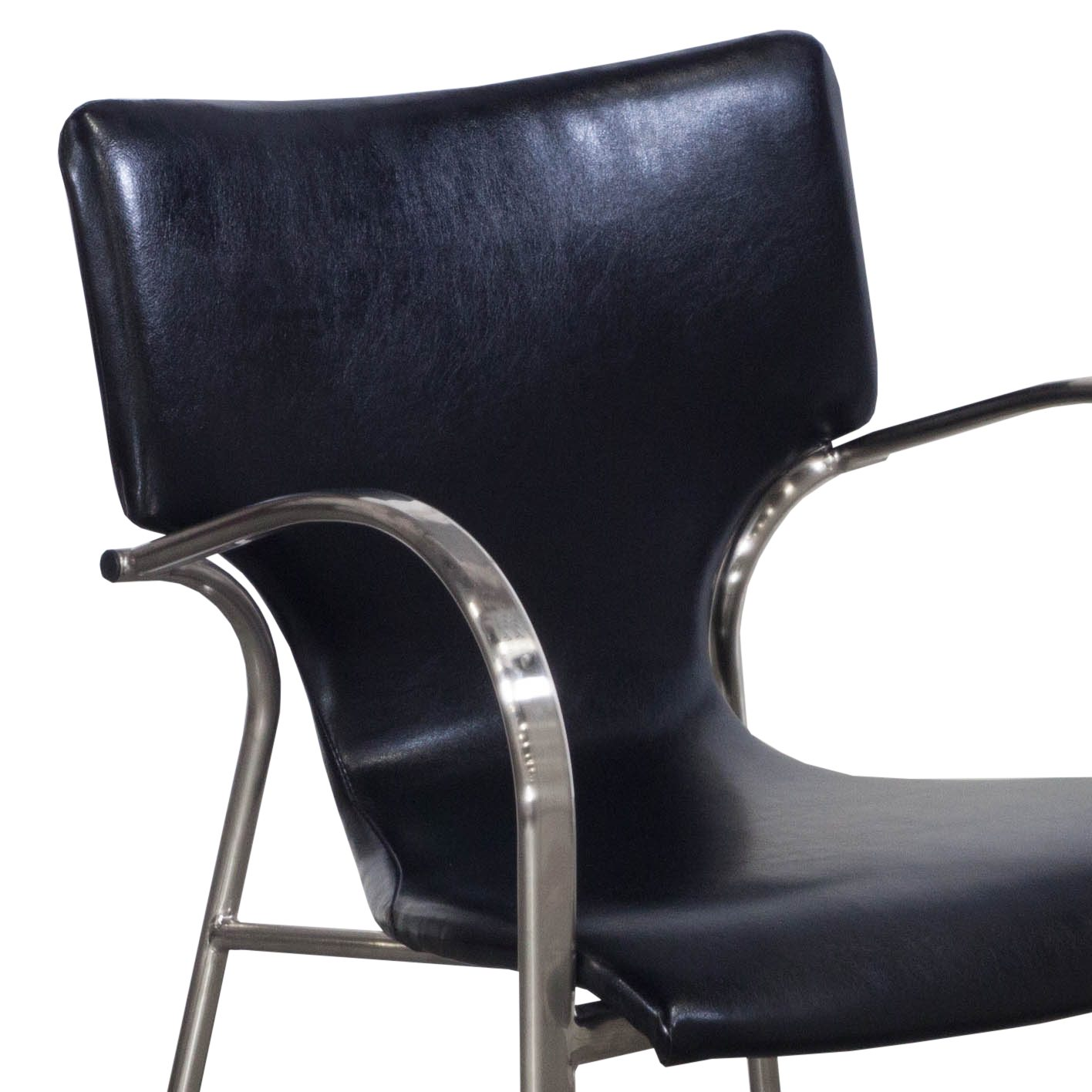 Bernhardt Leather Chair Bernhardt Strada Used Leather Stack Chair Black