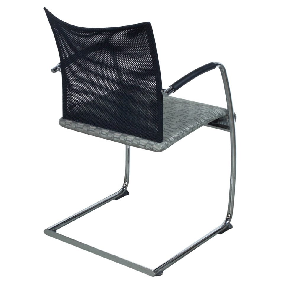 Dauphin Chairs Dauphin Visita Used Black Mesh Back Side Chair Gray National Office Interiors And Liquidators