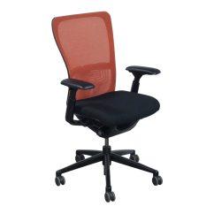 Haworth Zody Chair Mesh Gaming Pm3000 Used Orange Back Task Black Seat