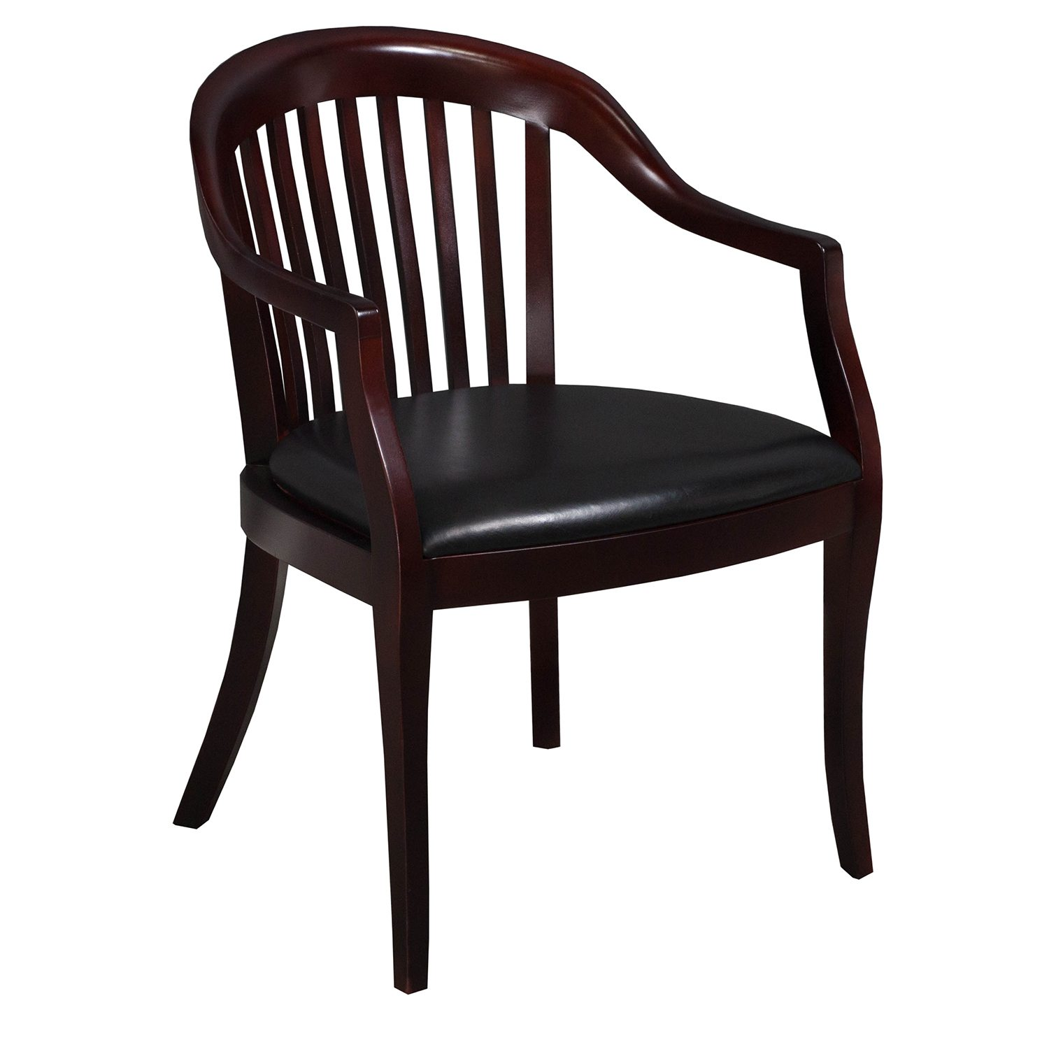 Leather Side Chair Used Mahogany Wood Leather Side Chair Black National