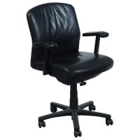 Steelcase Vecta 4 O'Clock Used Leather Conference Chair ...