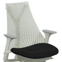 Herman Miller Sayl Used White Back Task Chair, Black Seat