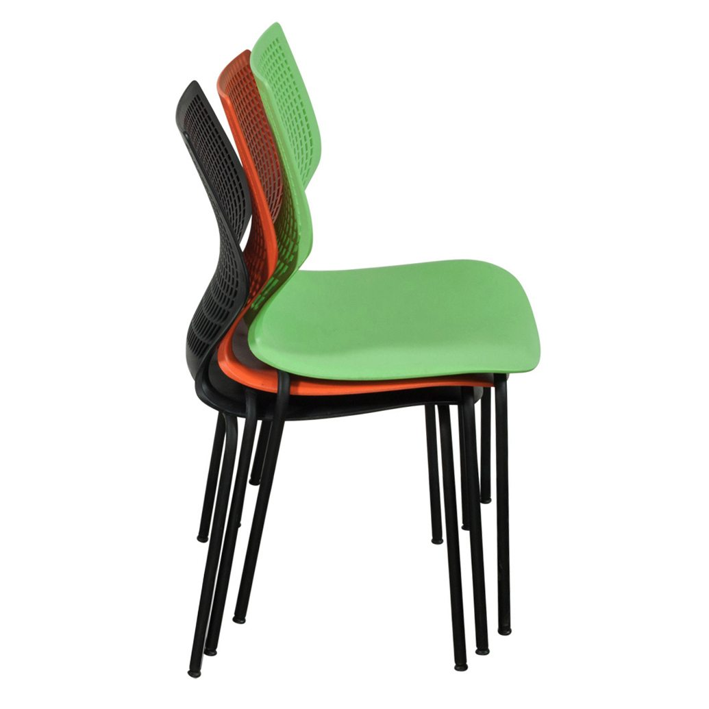 Plastic Stacking Chairs Used Metal Frame Plastic Stack Chair Black National