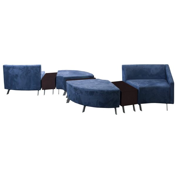 Arcadia Archella Used Modular Lounge Seating Blue - National Office Interiors And Liquidators