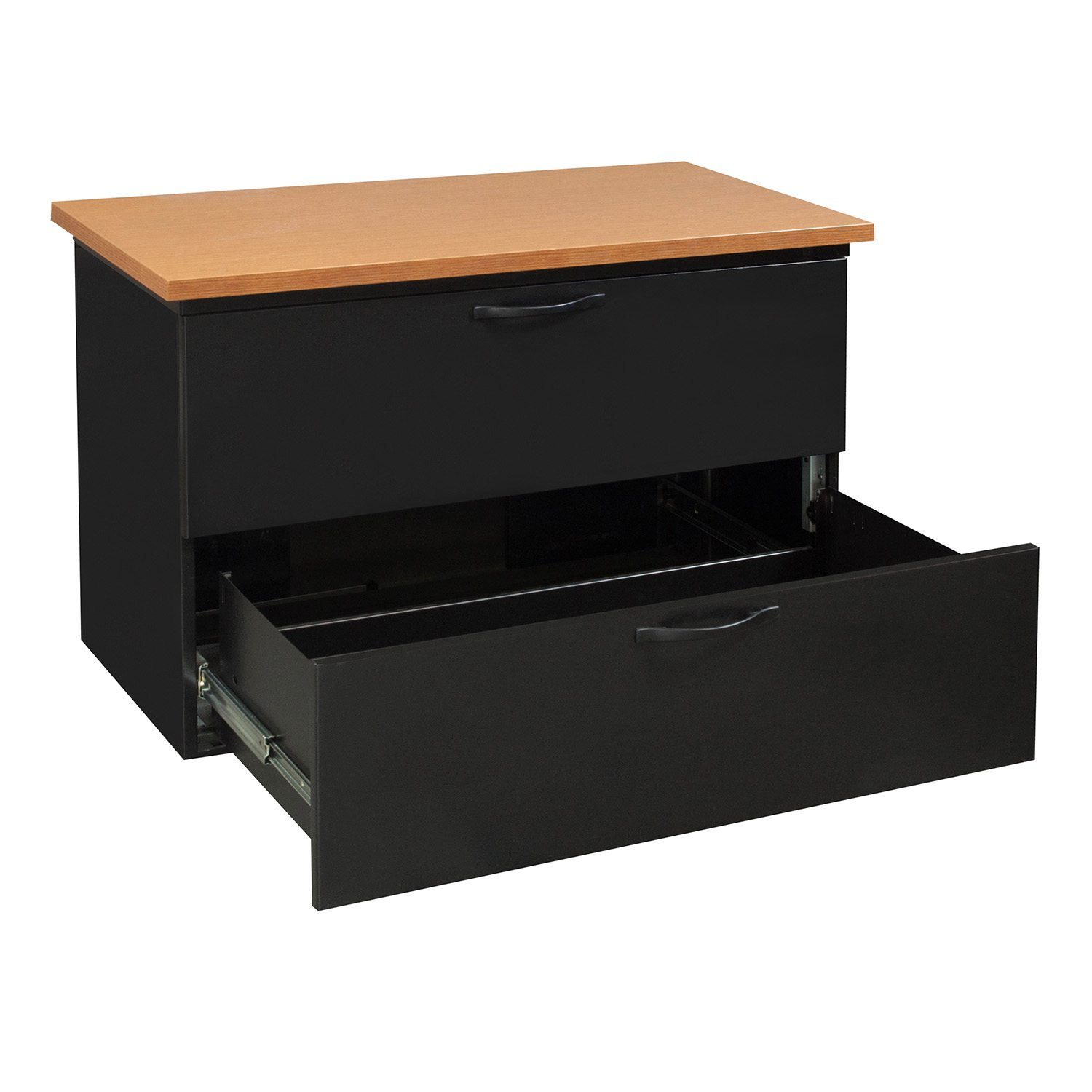 Herman Miller Used 2 Drawer Black 42 Inch Lateral File