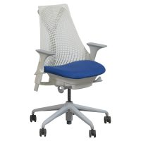Herman Miller Sayl Used White Back Task Chair, Electric