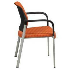 Allsteel Relate Side Chair Barcelona Knoll Used Stack Orange National Office