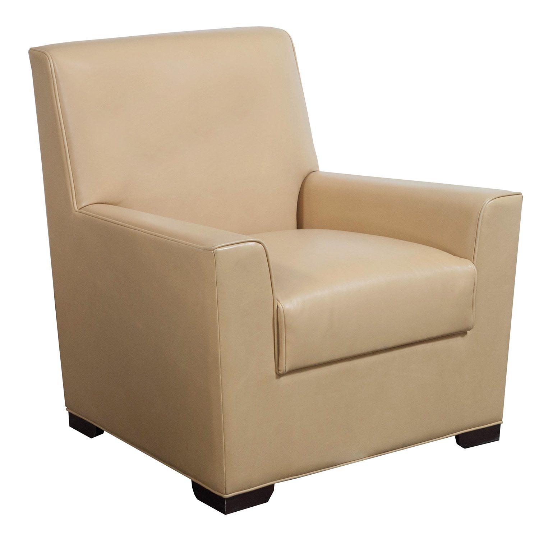 Bernhardt Used PU Leather Club Chair Tan  National