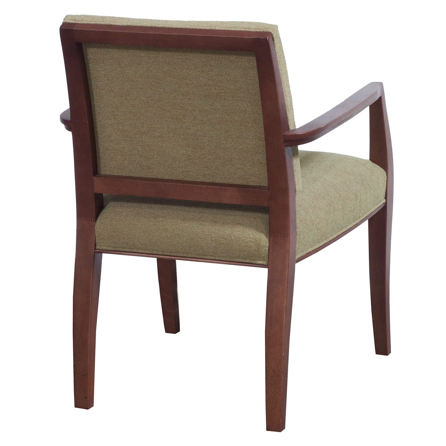 Cherry Chairs Bernhardt Used Dark Cherry Wood Side Chair Green