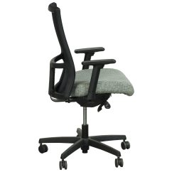 Pewter Chair Whole Body Massage Hon Ignition Series Mid Back Black Task Seat Dotty