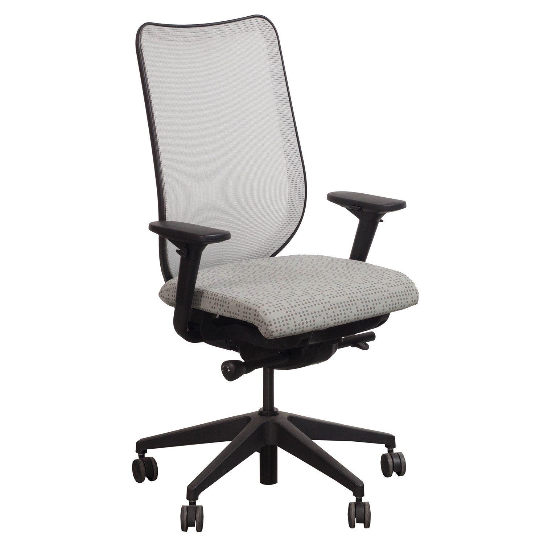 pewter chair z lite folding hon nucleus used mesh back task seat dotty