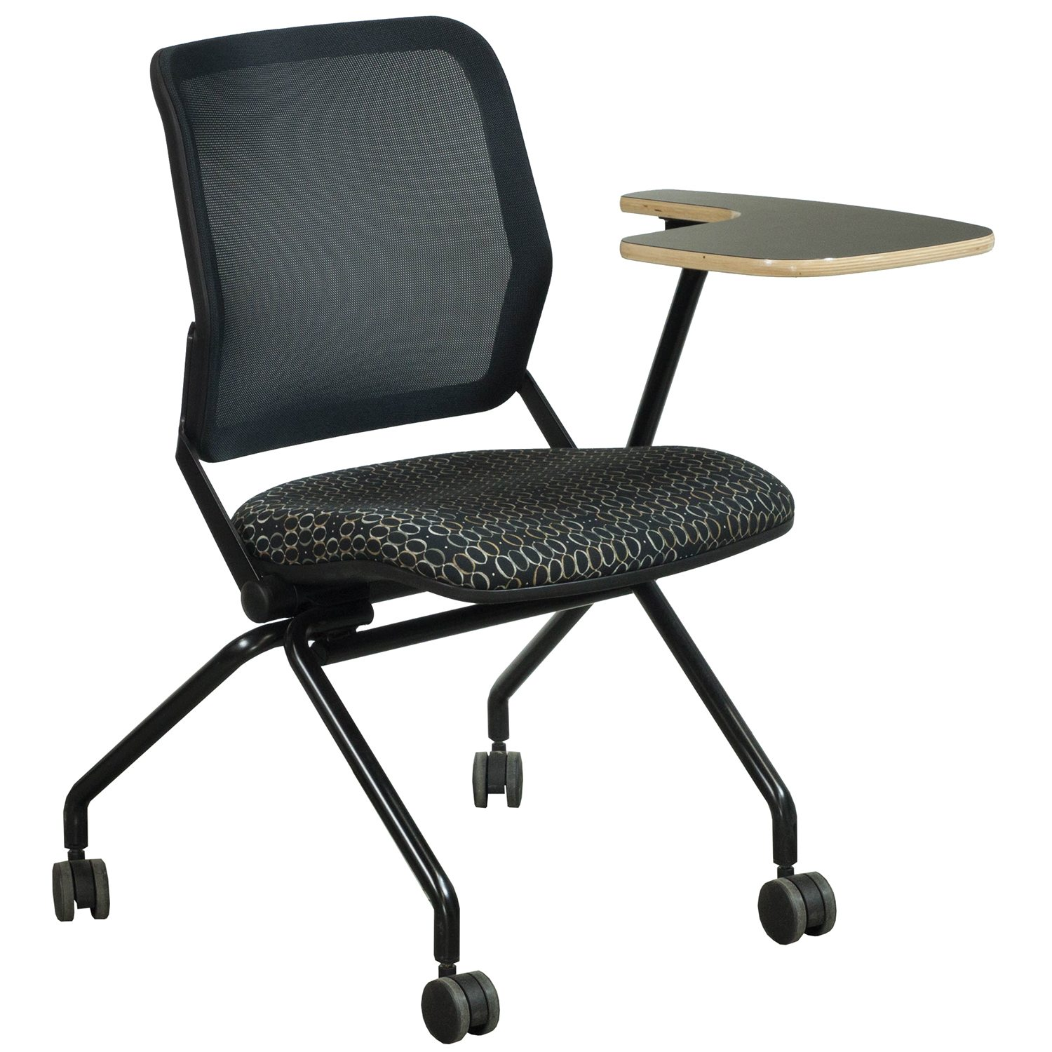 Ki Chairs Ki Torsion Air Used Nesting Left Tablet Chair Black