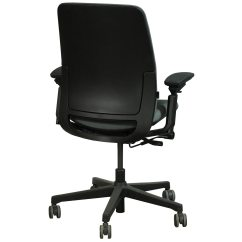 Steelcase Amia Chair And A Half With Ottoman Used Task Charcoal National Office