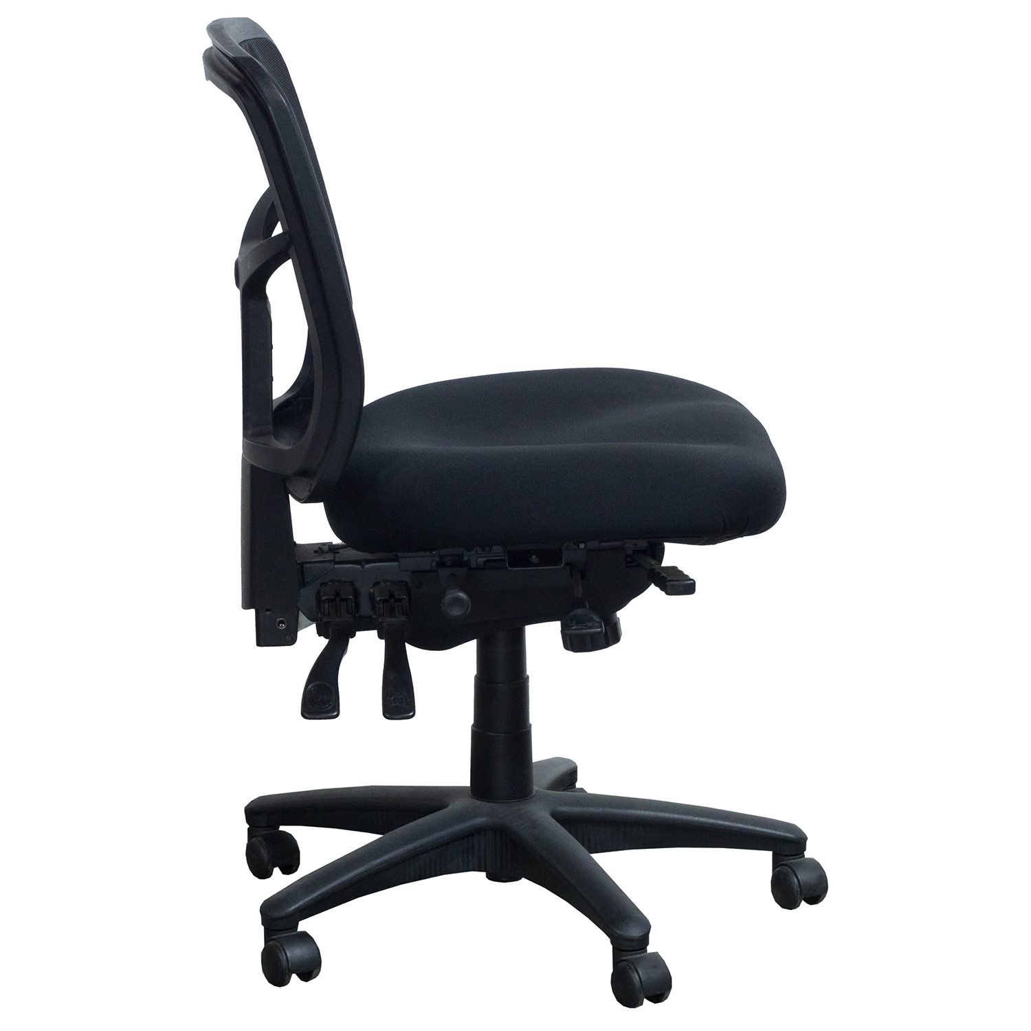 Alera Chair Alera Elusion Series Used Mesh Armless Task Chair Black