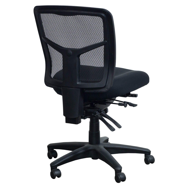 Alera Elusion Series Used Mesh Armless Task Chair Black