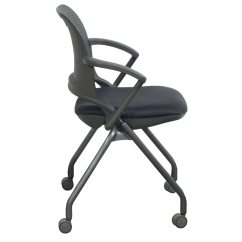 Allsteel Relate Side Chair Revolving For Salon Get Used Nesting Gray National Office