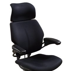 Freedom Task Chair With Headrest Small Living Room Humanscale Used High Back W