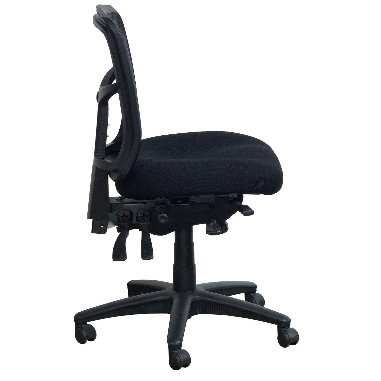 desk chair youtube mat for carpet staples performance office furnishings used armless mesh task