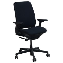 Steelcase Amia Chair Fisher Price Feeding Used Task Black National Office