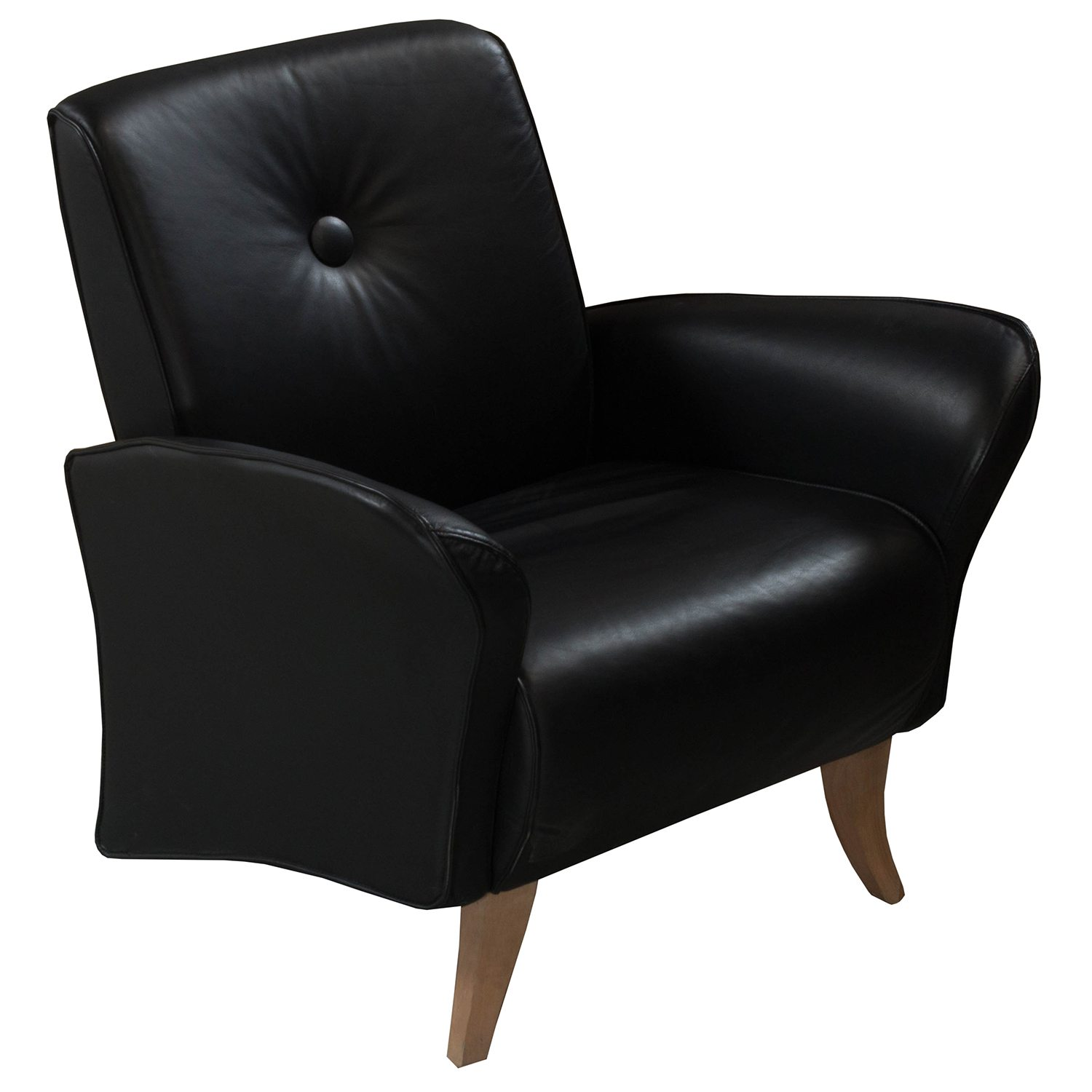 Via Chairs Via Used Pu Leather Lounge Chair Black National Office