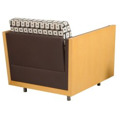 Brown Office Guest Chairs How To Make Beach Used Lobby Chair Square Pattern National