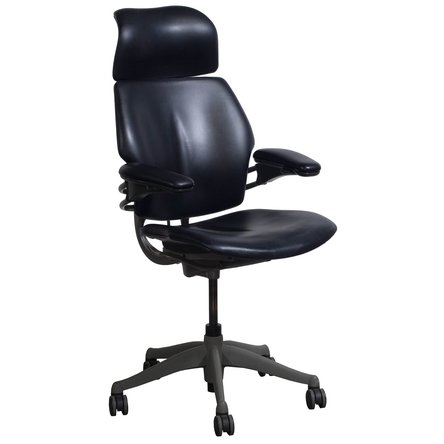 Humanscale Freedom Chair Humanscale Freedom Used Leather High Back Task Chair