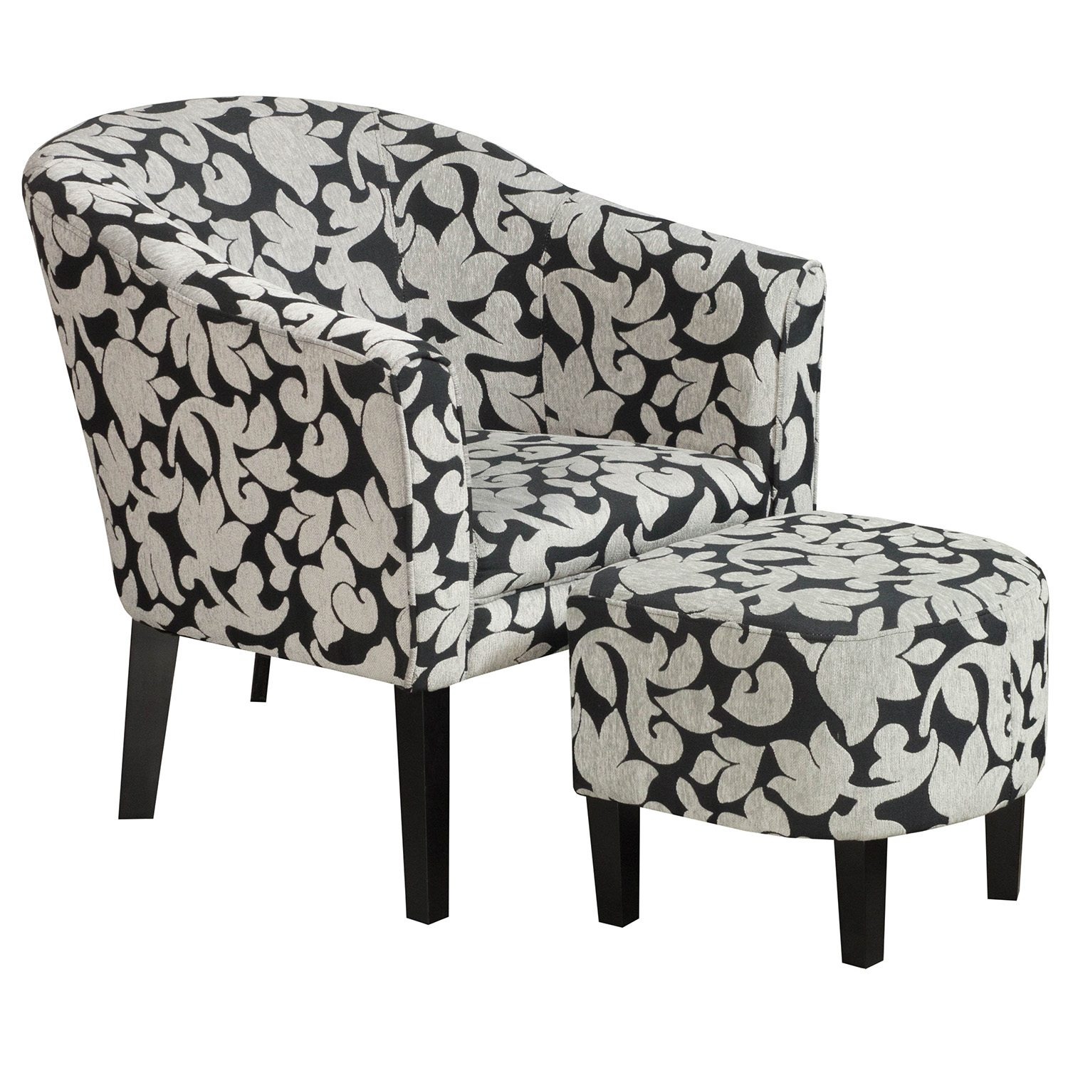 Lounge Chair With Ottoman Used Lounge Chair W Ottoman Black Pattern National