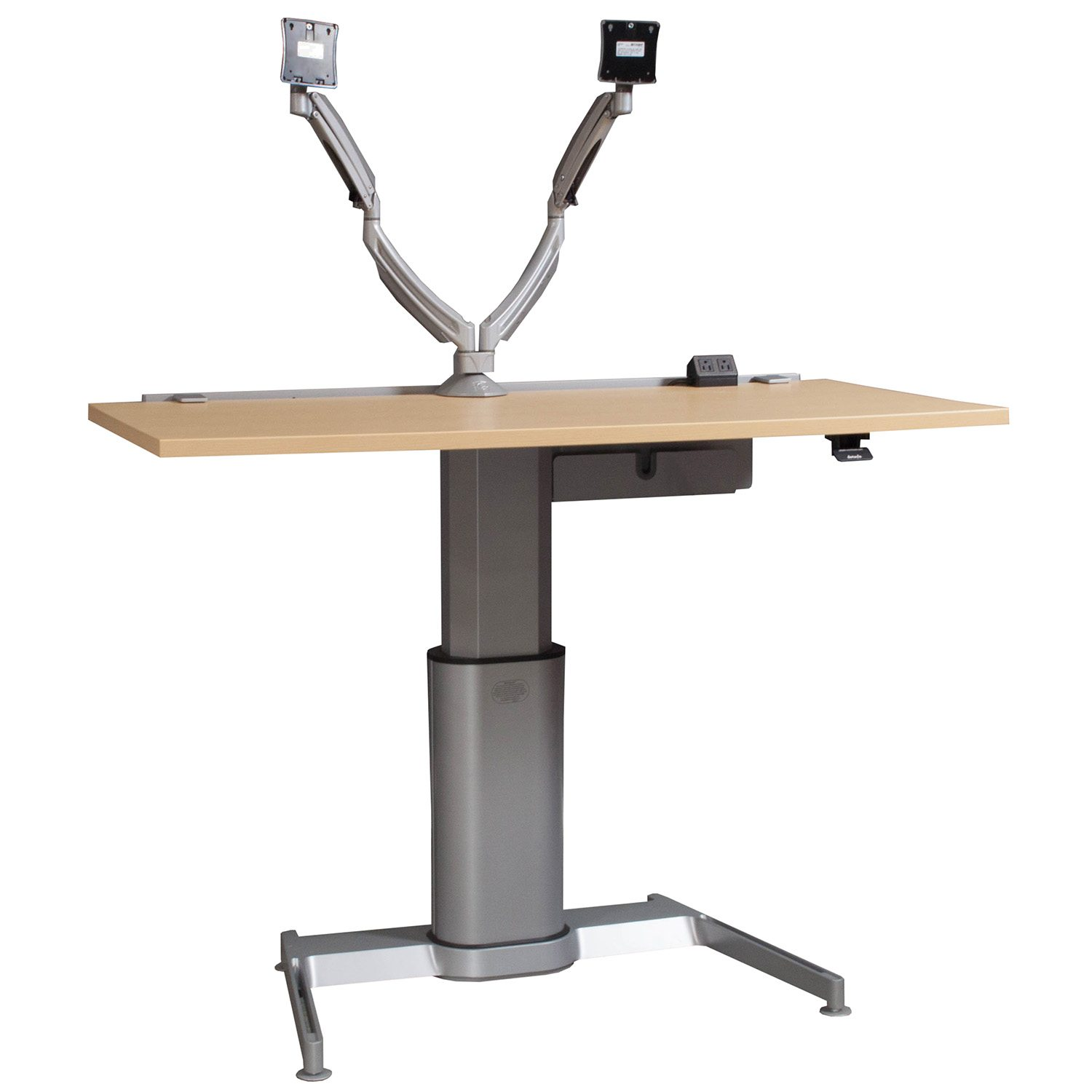 Steelcase Used Adjustable Height Table, Maple  National