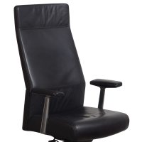 Steelcase Siento Highback Leather Executive Chair, Ebony ...