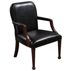 Leather Side Chair Studded Dining Room Chairs Bright Used Wood Black National
