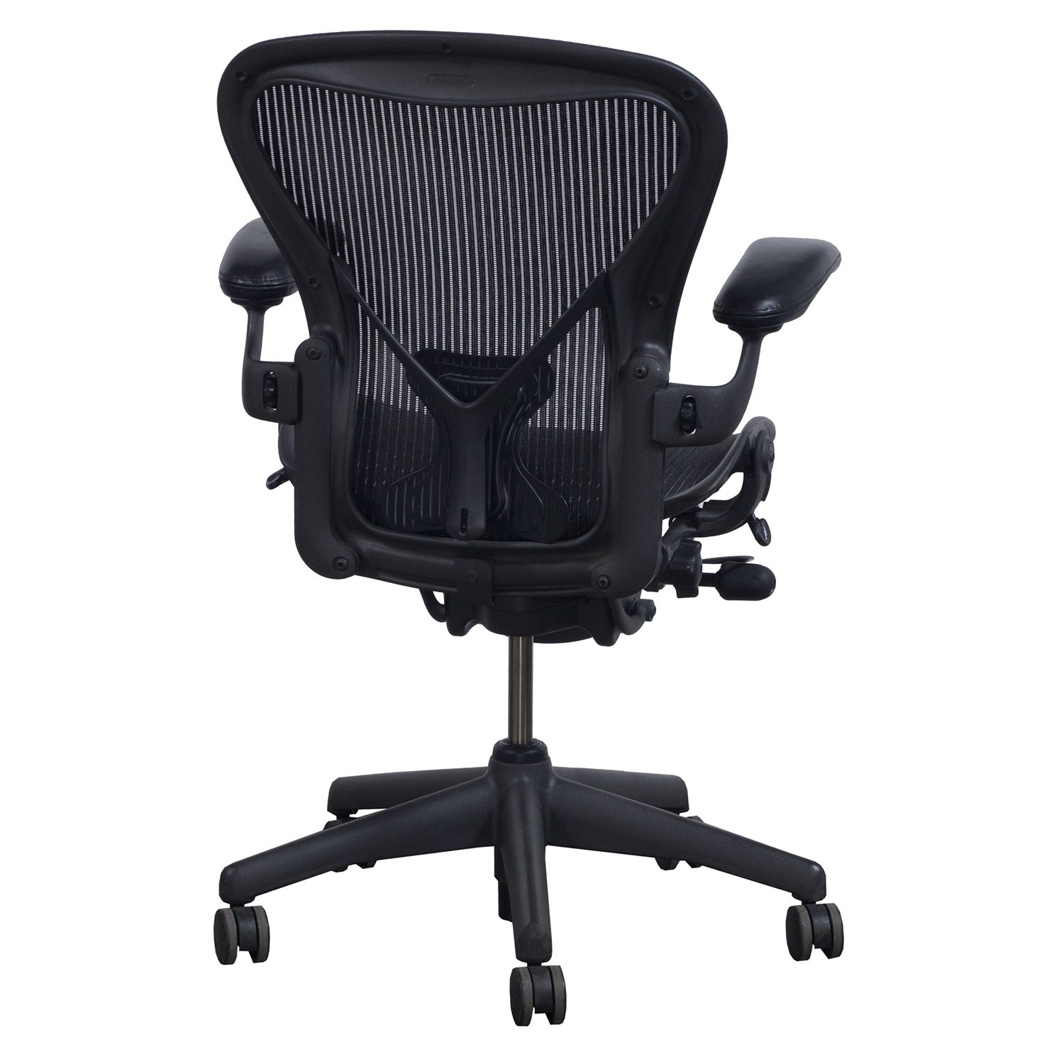 aeron chair sizes the egg herman miller posturefit used size b leather arm