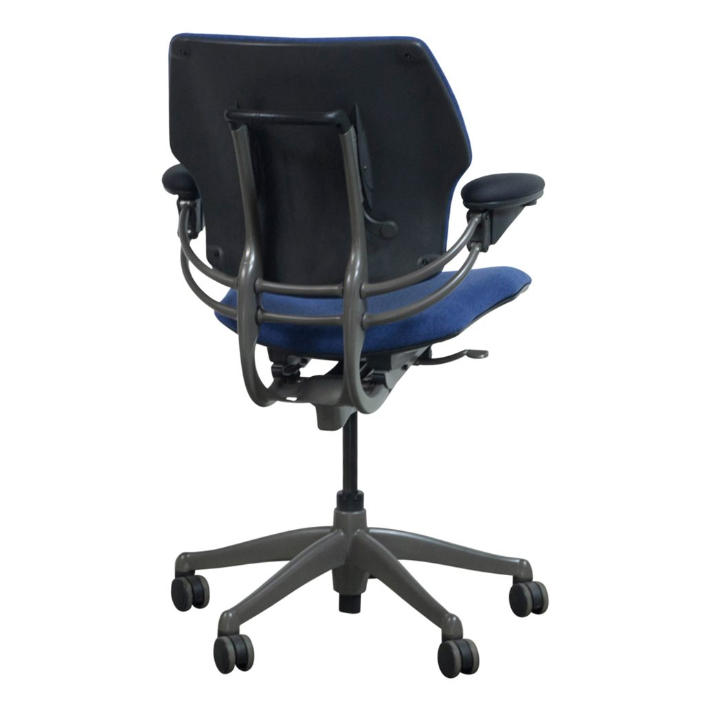 Humanscale Freedom Chair Humanscale Freedom Used Mid Back Task Chair Blueberry