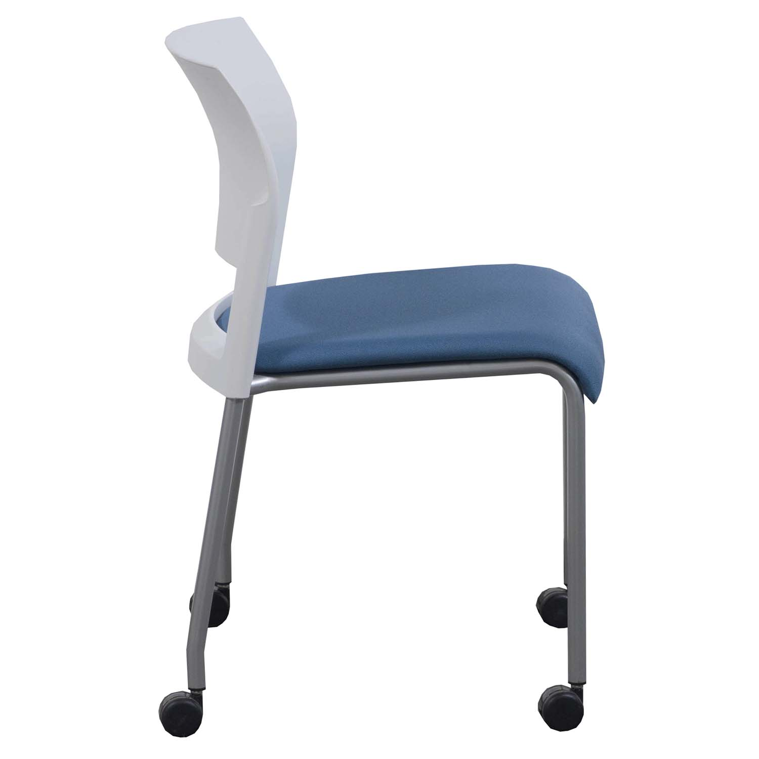 Moving Chair Steelcase Move Used Mobile Stack Chair White And Blue