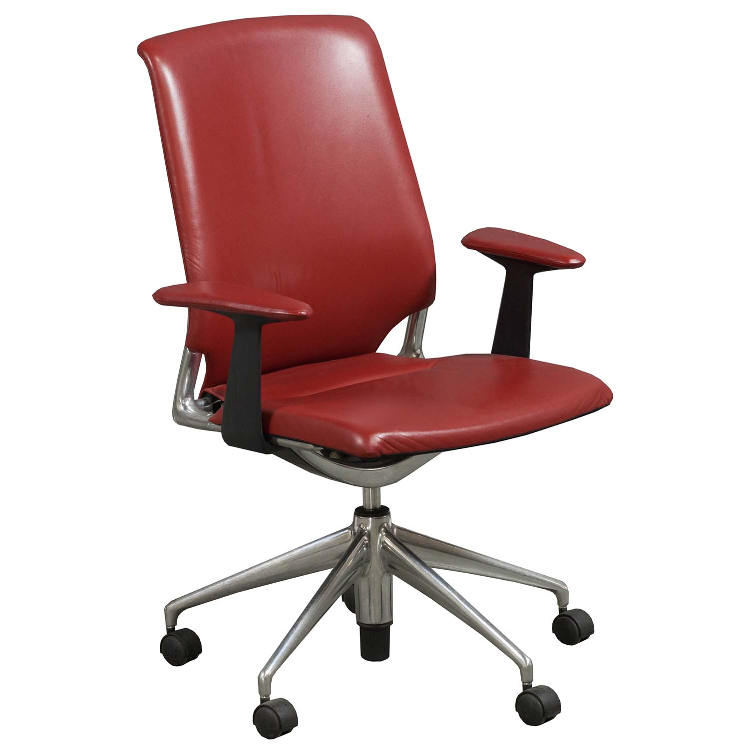 vitra office chair price marble patio table and chairs meda used leather conference red national