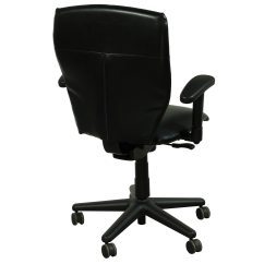 Allsteel Task Chair Steel For Office Energy Used Leather Conference Black