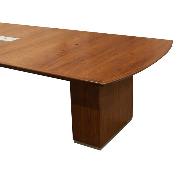 30 Foot Used Veneer Conference Table Walnut National
