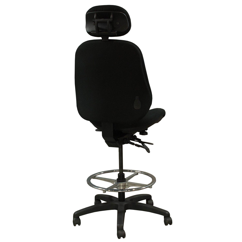body built chairs small leather club bodybilt j3507 used ergonomic armless stool w headrest