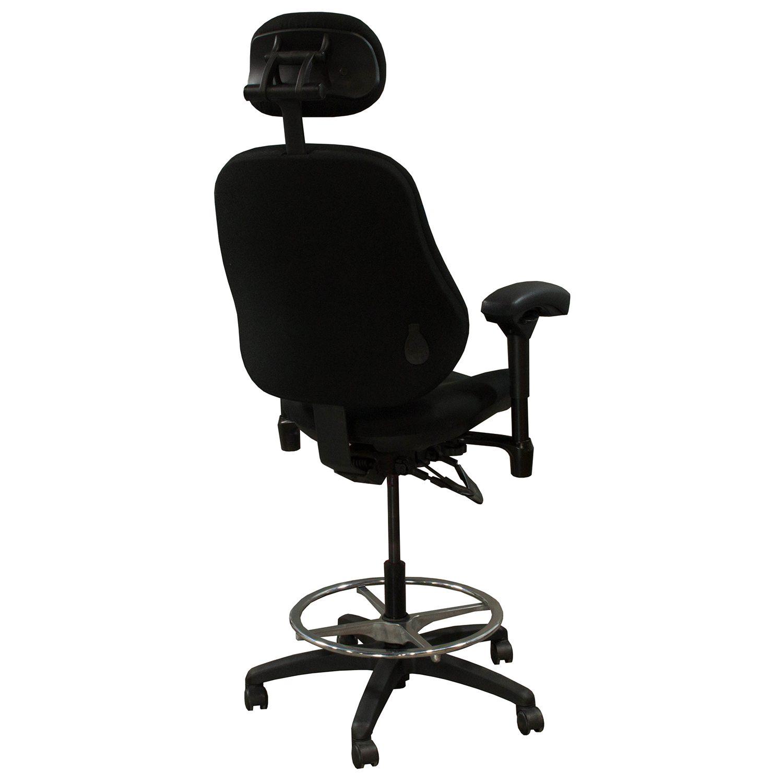 body built chairs wheelchair hire sydney bodybilt j3507 used ergonomic stool w headrest black
