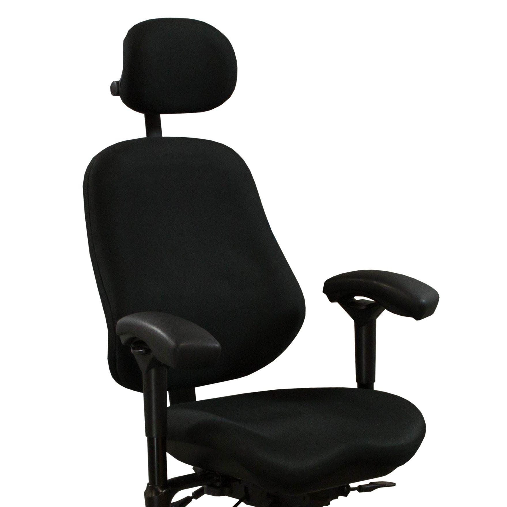 body built chairs cushions for dining nz bodybilt j3507 used ergonomic stool w headrest black