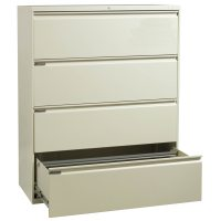 HON 800 Series Used 4 Drawer 42 Inch Lateral File, Putty ...