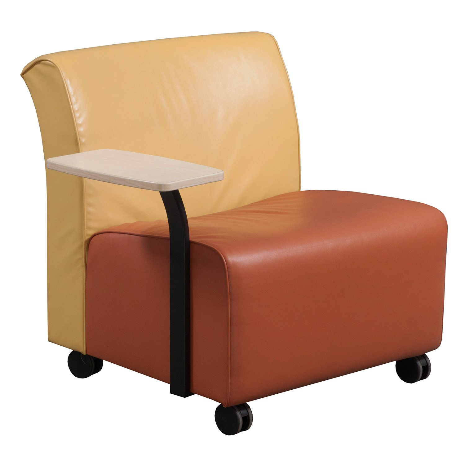 yellow office chair mickey mouse club ethan allen steelcase jenny used leather right tablet mobile reception