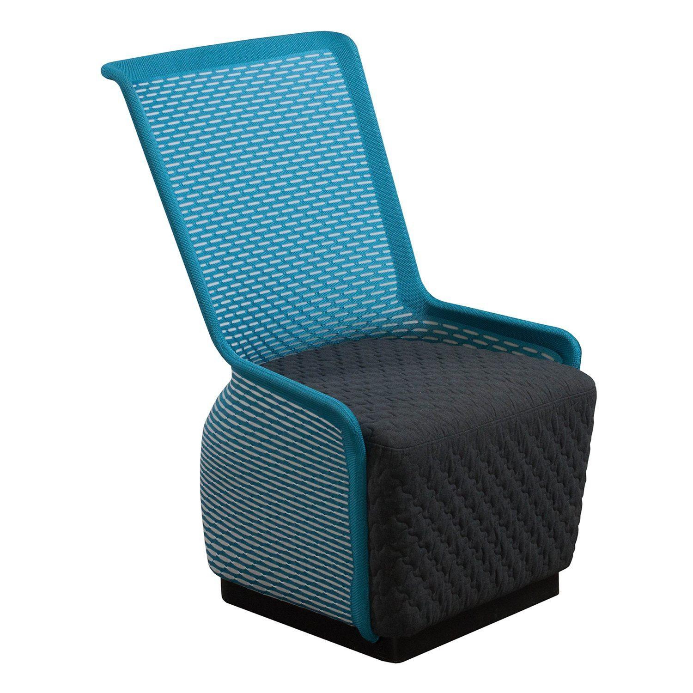 Peachy Blue Lounge Chair Brookerpalmtrees Spiritservingveterans Wood Chair Design Ideas Spiritservingveteransorg