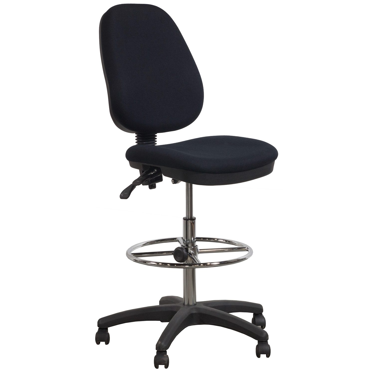 chair stool black how much fabric do i need to reupholster a flash furniture used armless ergonomic drafting