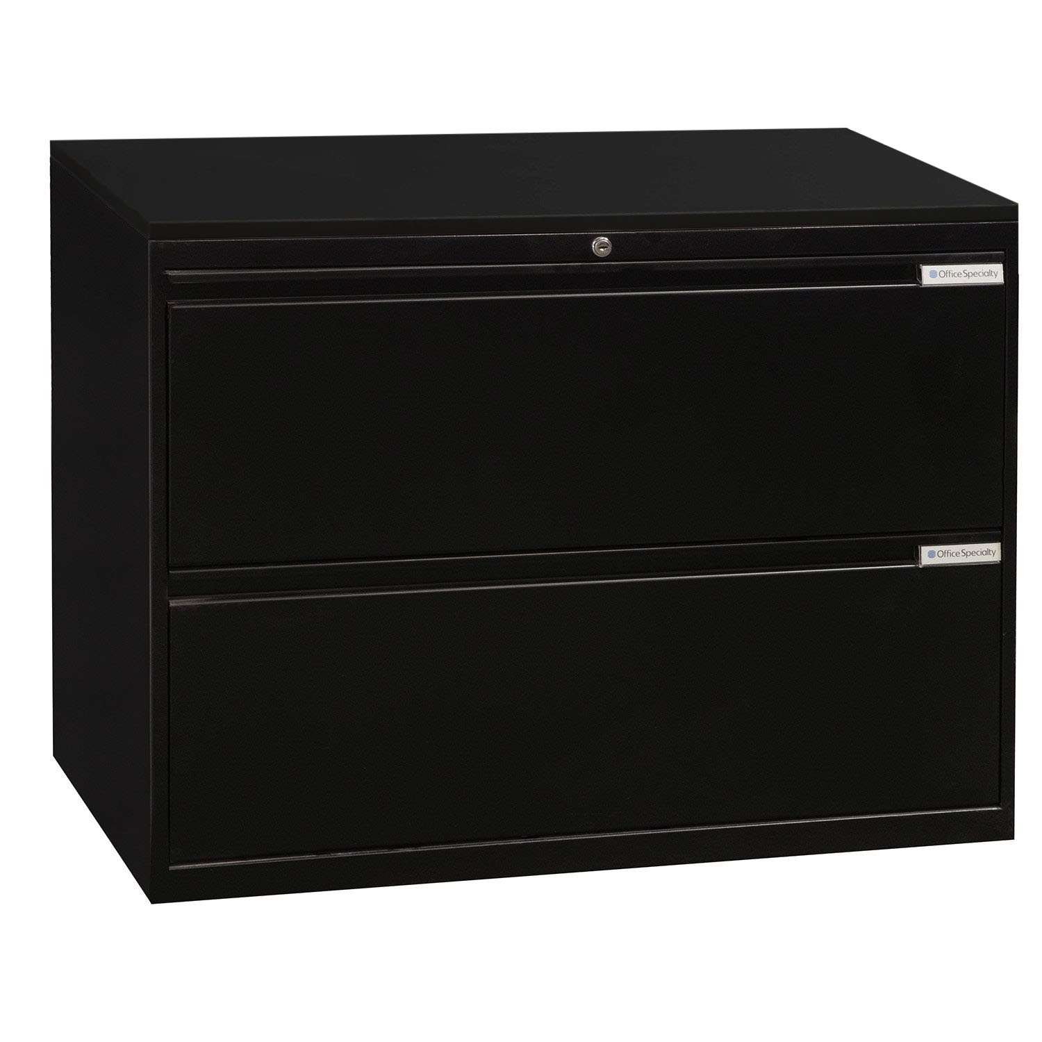Office Specialty Used 2 Drawer 36 Inch Lateral File Black