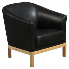 Black Leather Reception Chairs Pull Out Steelcase Jenny Chair 01